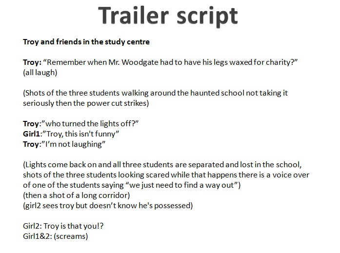 promotional video script template - trailer script supergroupcaab